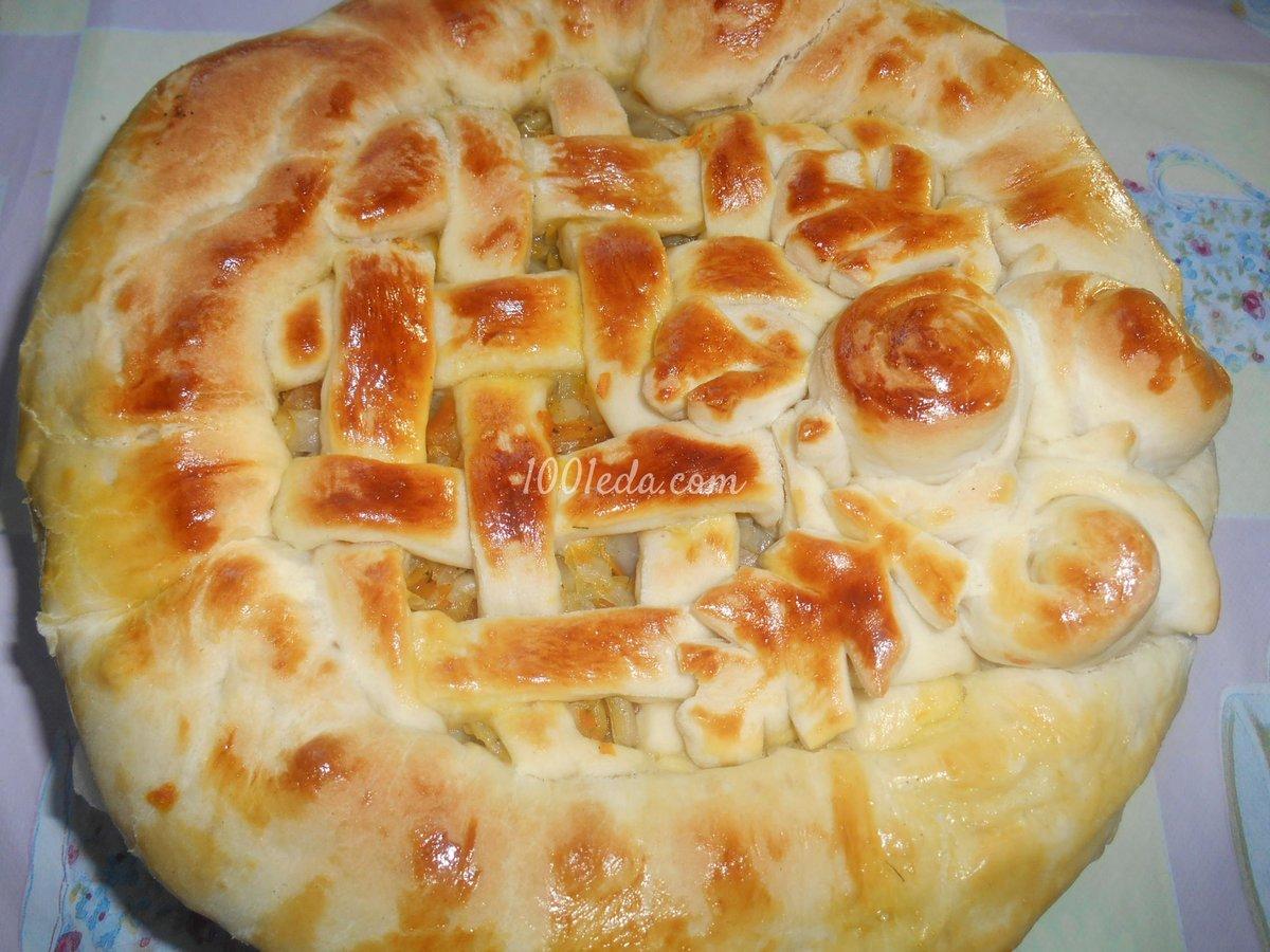 пирог с капустой рецепт простой