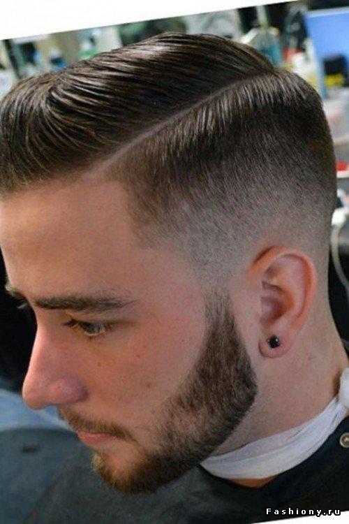 мужская стрижка с пробором фото