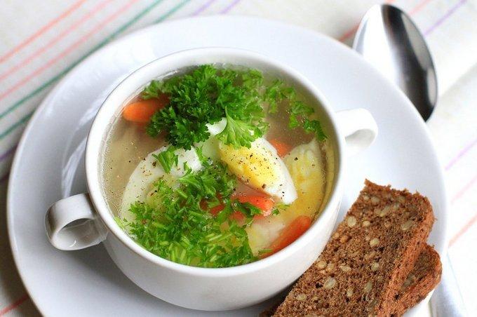 Быстрый куриный суп