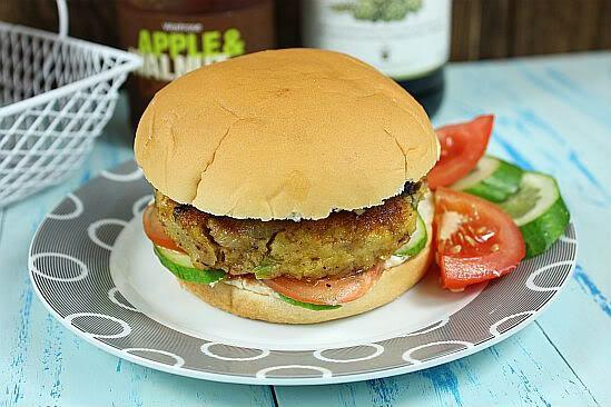 Бургер рецепт на англ (Chickpea burger)