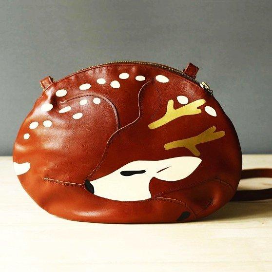 Фото Сумка олень. Сумка в виде оленя. Авторские сумки. Дизайнерские сумки. Сумки ручной работы.