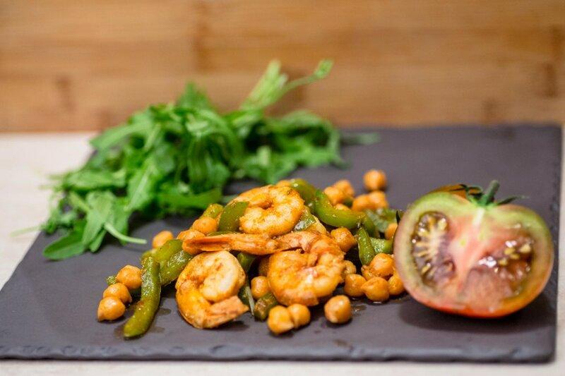 Креветки с пряным нутом - рецепт - как приготовить - ингредиенты, состав, время приготовления - Леди Mail.Ru