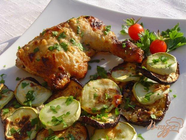 Курица с овощами в аэрогриле