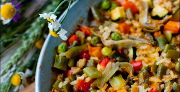 паэлья, паэлья рецепт, испанская паэлья, как приготовить паэлью, паэлья рецепт с фото, овощная паэлья