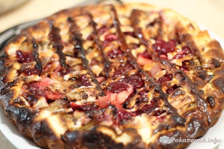 Пирог с яблоками и вишней » Готовим дома - самые вкусные рецепты с фото, кулинарные рецепты с фотографиями