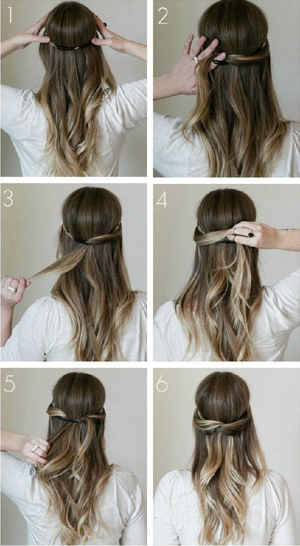 Повседневные прически на средние волосы для работы и дома
