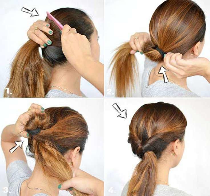 Красивая причёска на длинные волосы своими руками в домашних условиях фото