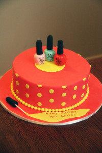 Торт из мастики Лак для ногтей. Видео рецепт