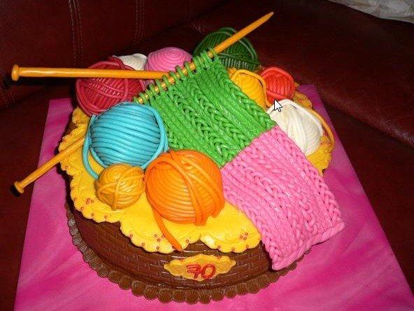 Украшения тортов из мастики своими руками - корзина с мотками ниток из мастики. | Идея Меню