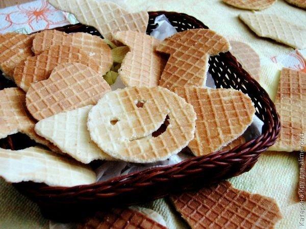 Вафельное печенье на сметане / Рецепты с фото