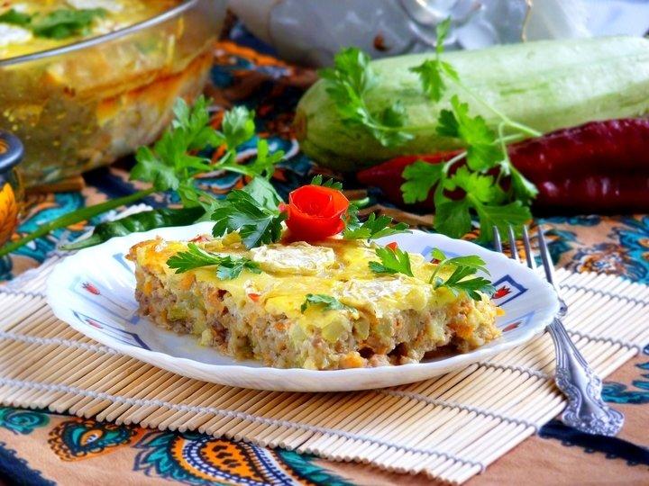 Запеканка кабачковая с мясом - рецепт - как приготовить - ингредиенты, состав, время приготовления - Леди Mail.Ru