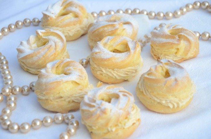Заварные колечки с творожным кремом - рецепт - как приготовить - ингредиенты, состав, время приготовления - Леди Mail.Ru