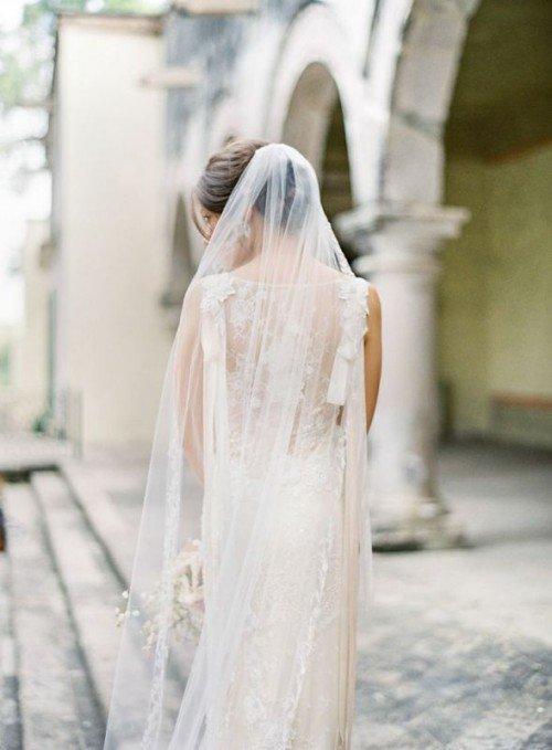 Длинная фата - возрождение свадебных традиций