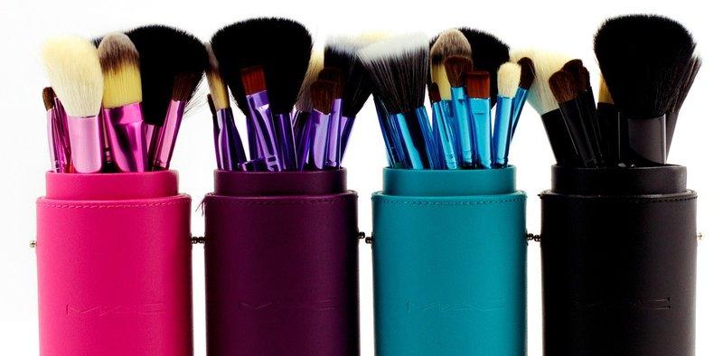 Купить кисти для макияжа MAC в тубусе 12 штук - Интернет-магазин Vlasta Cosmetics