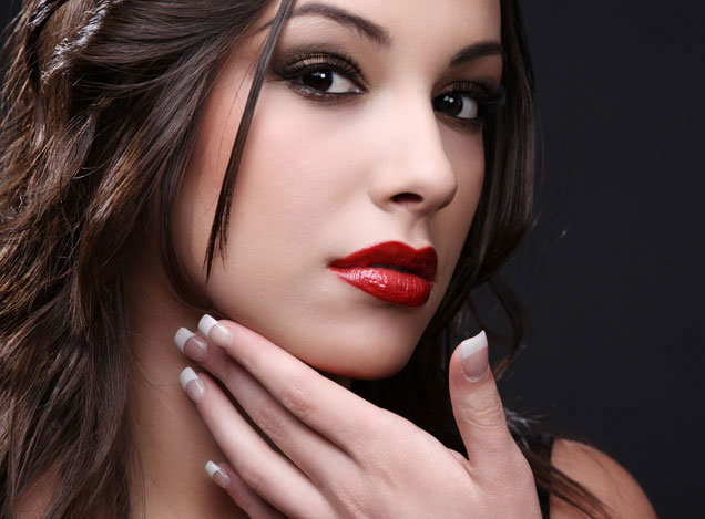 макияж с красной помадой makeup smokey eyes red lips