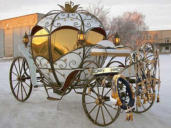 Роскошная свадебная карета
