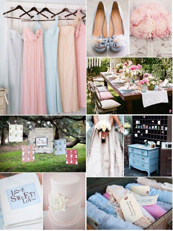Розово-голубая свадебная палитра. | Свадебное вдохновение