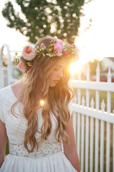 » Стильный и милый образ тропической невесты. Фата или что-то новенькое?!