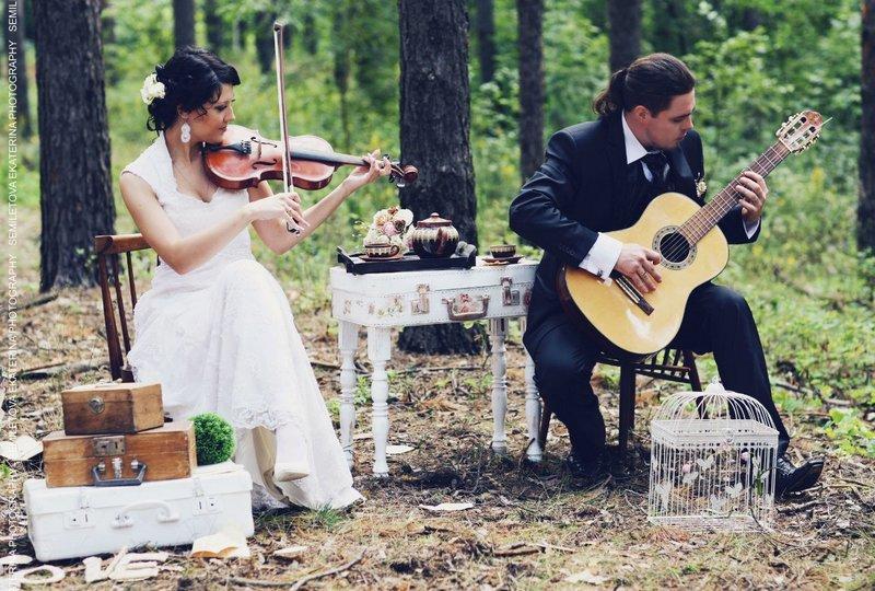 Винтажно-музыкальная свадьба