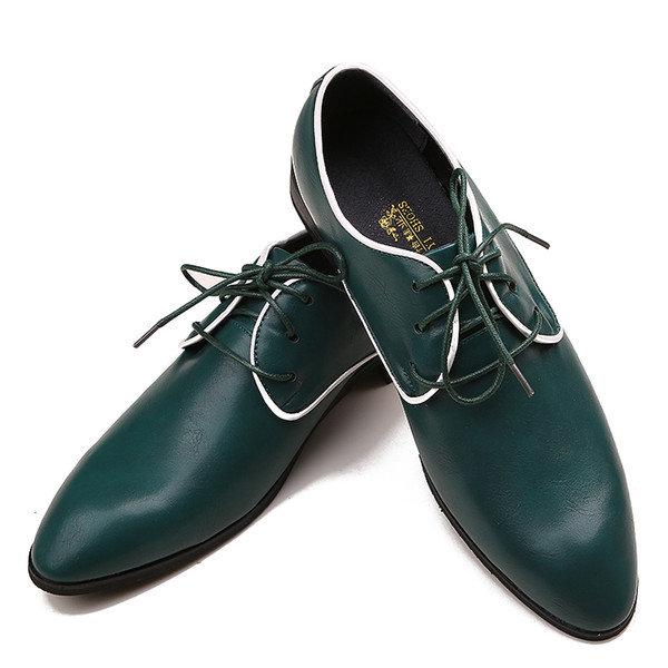 Wholesale 2015 Green Fashion Design деловой человек Обувь мужская кожаная обувь Свадебная обувь жениха обувь Женихи обувь DY1306, Free shipping, $36.65/Штука | DHgate Mobile