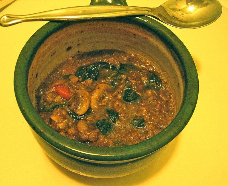 Грибной суп из опят с гречкой