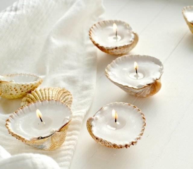 Свечки из ракушек своими руками в домашних условиях