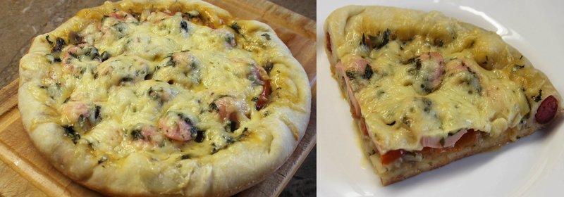грибная пицца рецепт в мультиварке