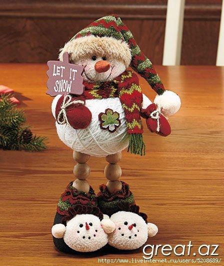 Игрушки своими руками снеговики из 96