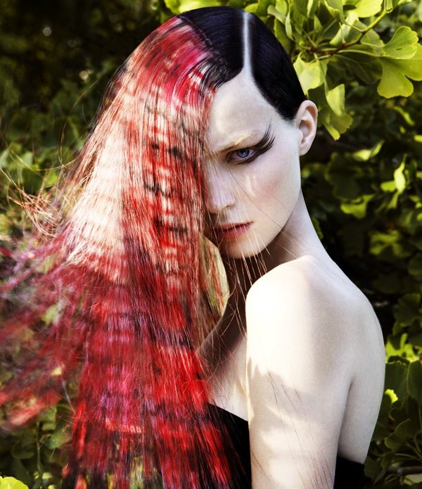 принты на волосах