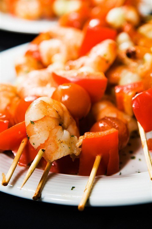 Шашлык из морепродуктов рецепт с фото