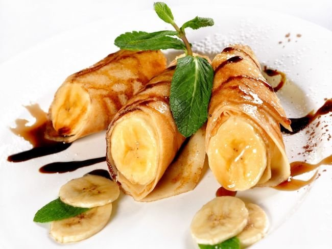 Блинчики с бананом