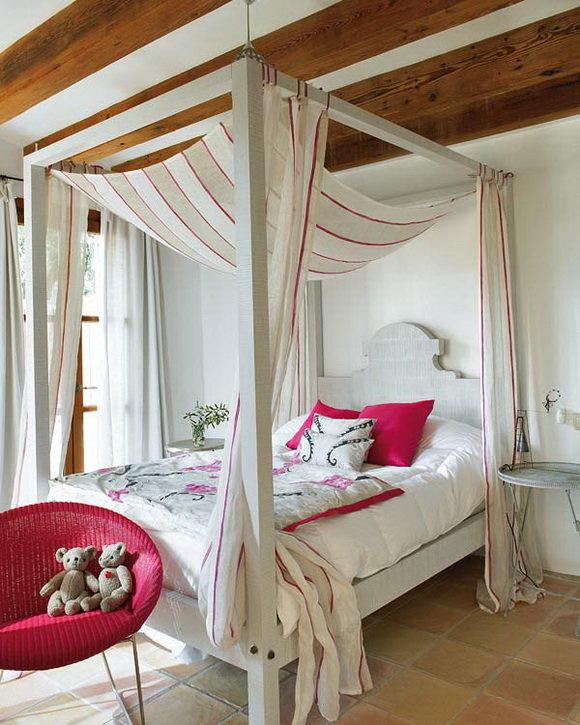 Стиль кантри в интерьере спальной