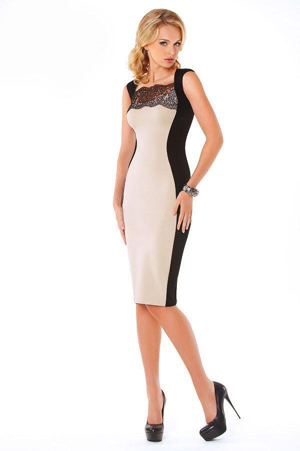 Платья со вставкой фото
