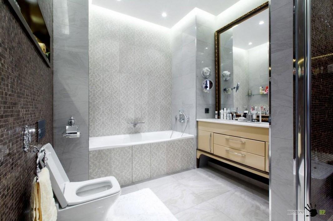Модный дизайн маленькой ванной комнаты 2018