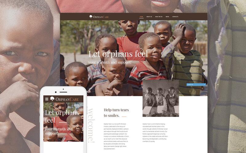 HTML шаблон сайта благотворительной организации http://tm.siteria.pro/website-templates-type/57766.html