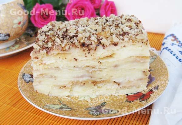 торт наполеон с заварным кремом фото рецепт