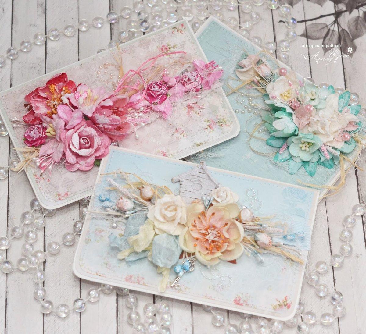Открытки с цветами стиле скрапбукинг, открытки