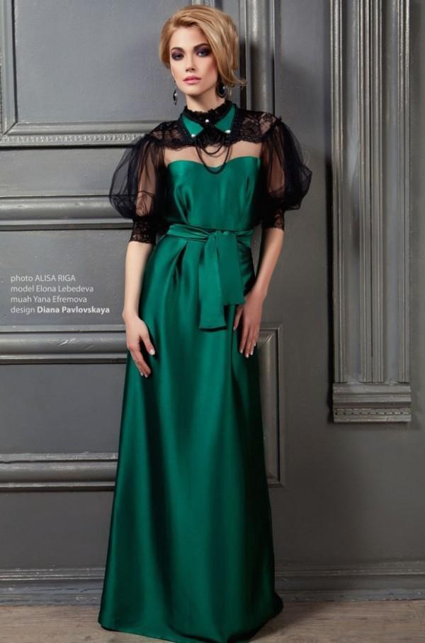 платья изумрудный цвет фото