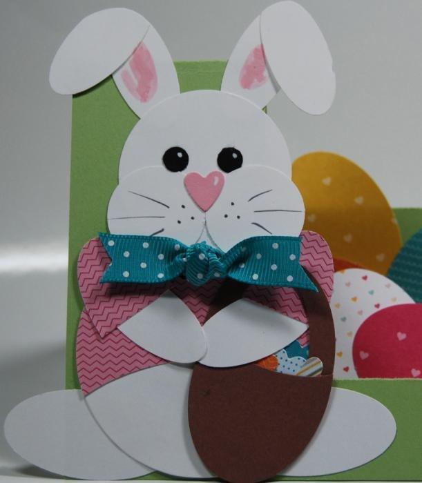 Многоуровневые, открытка своими руками заяц