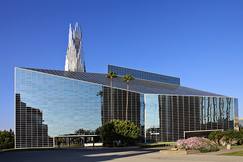 Прозрачное здание церкви, Калифорния