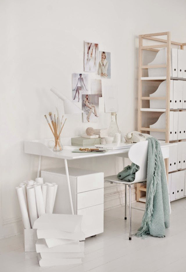 Интерьер домашнего кабинета - Белоснежный цвет (уют в доме)