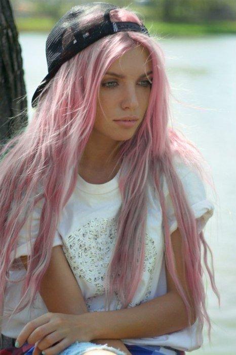 Розово пепельные волосы