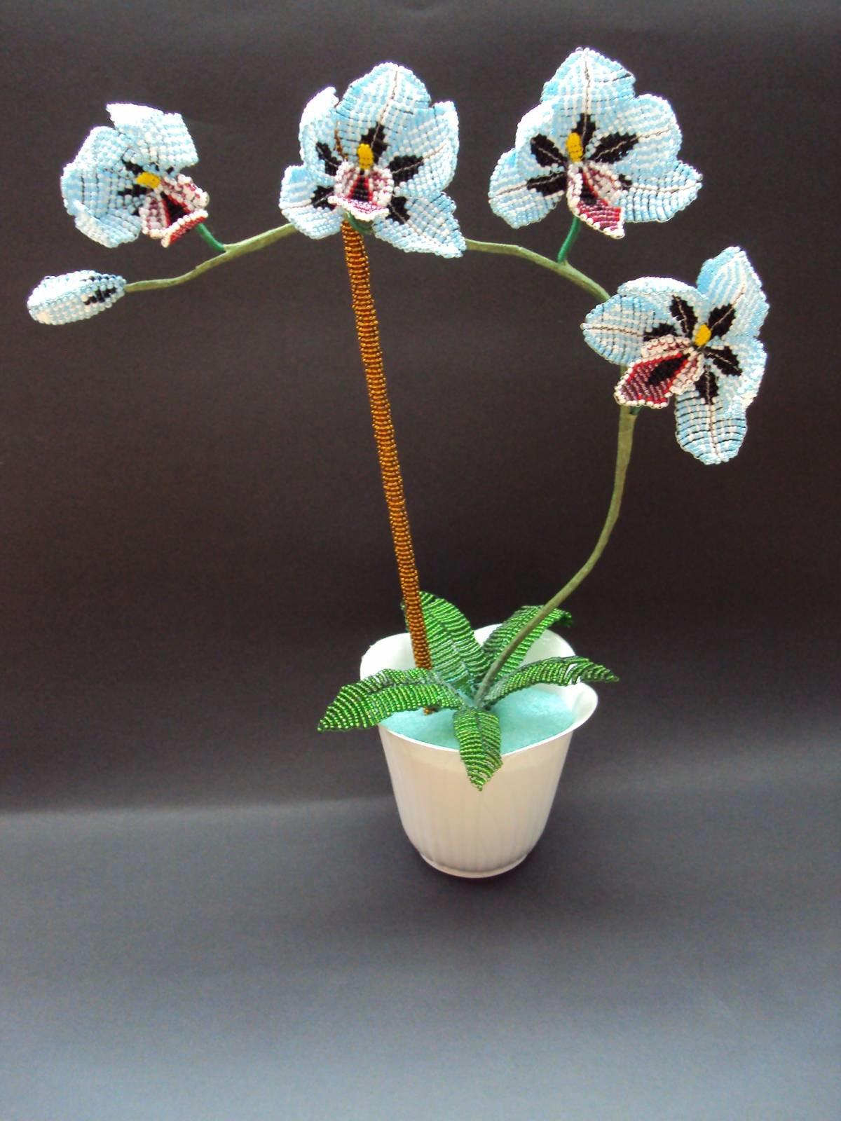 картинка орхидея из бисера того, чтобы его