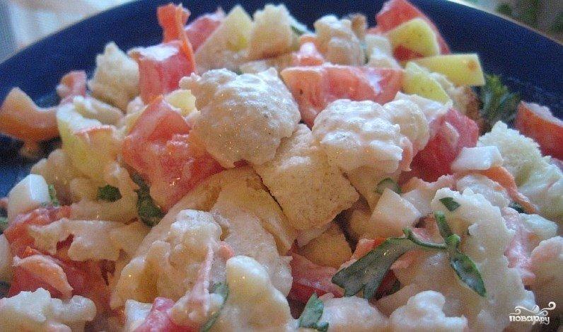 салат из цветной капусты на каждый день