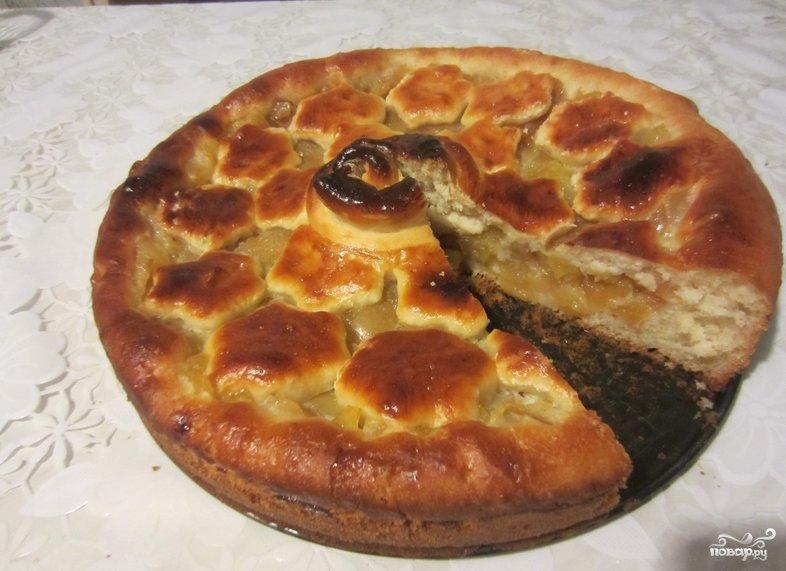 Дрожжевой яблочный пирог простой рецепт