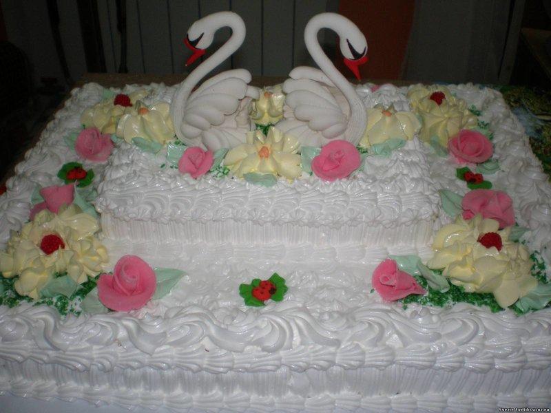 Фото свадебные торты оформленные заварным белком