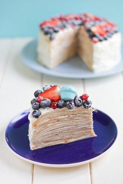 """Блинный торт """"Ягодный"""""""