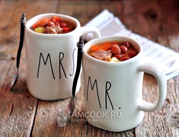Рецепт супа из красной консервированной фасоли 17