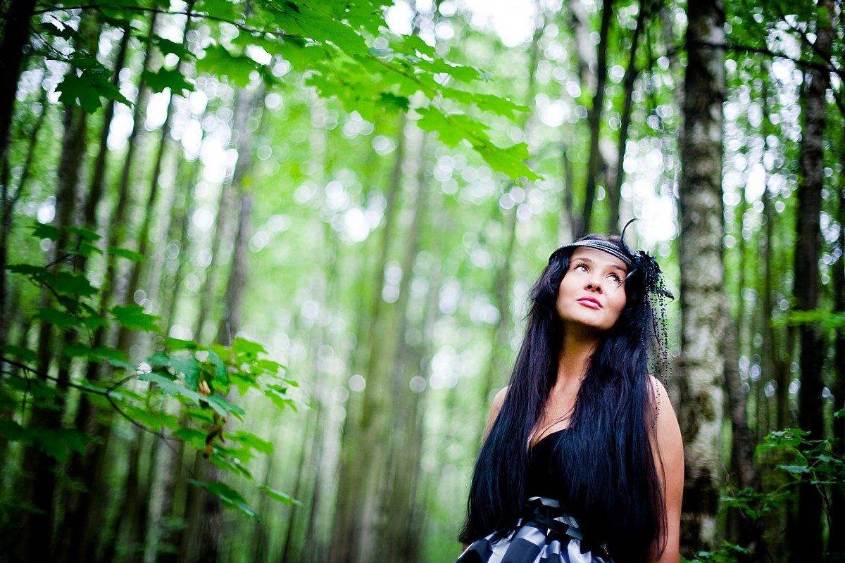 варианты фотосессий в лесу наступлением