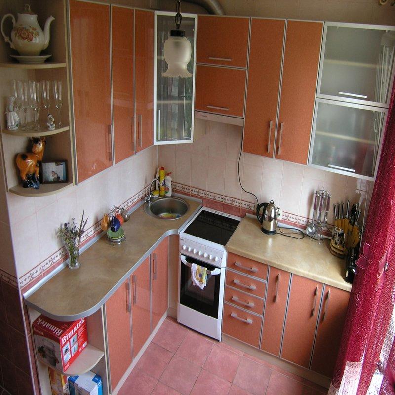 Красивый дизайна кухни 7 кв м